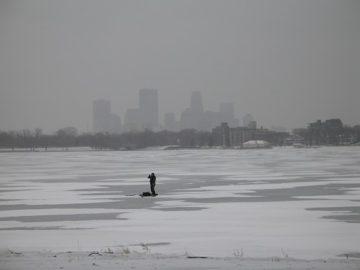 lake calhoun, not far from the MN Zen Center, photo by Quoinmonkey, all rights reserved