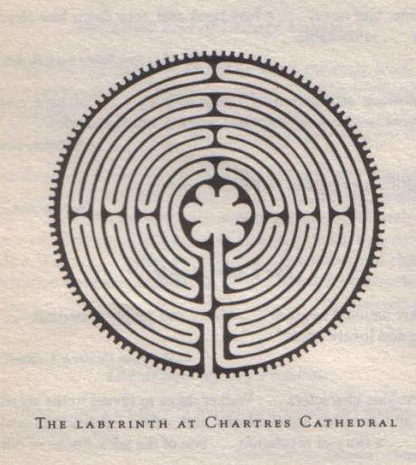Labyrinth at Chartres Cathedral, from Alice Walker's, The Same River Twice
