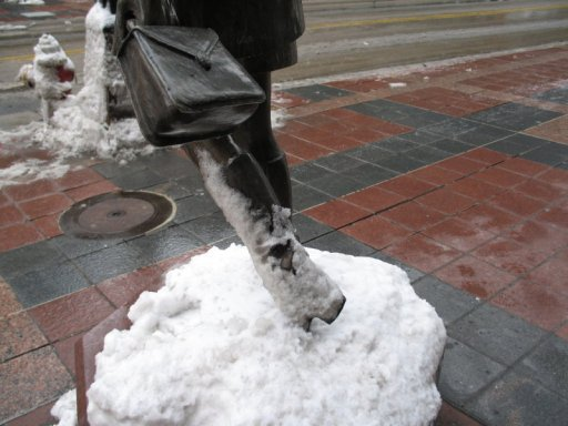 Mary Tyler Moore's winter boots, Nicollet Mall & 7th Street, Minneapolis, photo by QuoinMonkey, all rights reserved