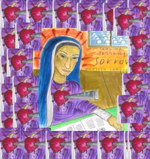 Dolorosa Reading the Obits