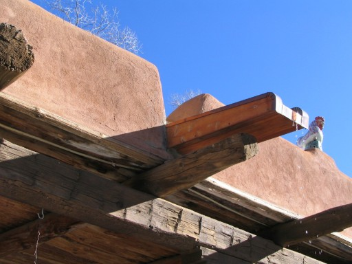 Wake Up, Mabel Dodge Luhan House, Taos, New Mexico, February 2007, photo by QuoinMonkey, all rights reserved