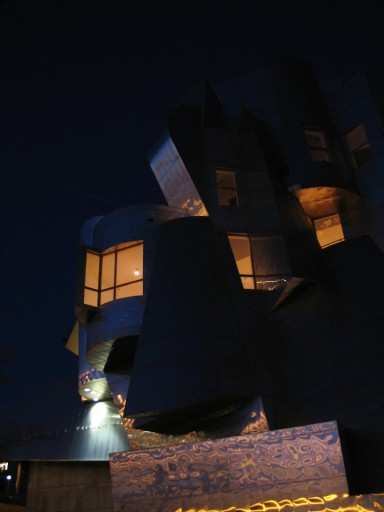Frank Gehry's Weisman Art Museum in Minneapolis. Minnesota, longshot, photo by QuoinMonkey, all rights reserved