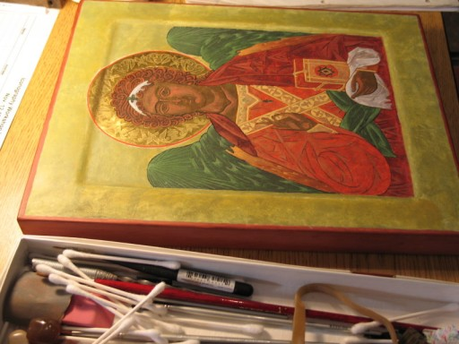 Icon Painting, May 19th, 2007, photo © 2007 by QuoinMonkey. All rights reserved.