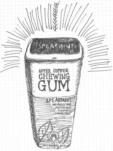 Chewing Gum Doodle, ybonesy 2007, all rights reserved
