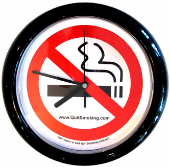 No Smoking Clock from QuitSmoking.com