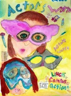 Poster of Actors World, painting by Dee, ybonesy 2007, all rights reserved