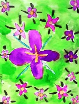 Purple and green, painting by Dee, ybonesy 2007, all rights reserved