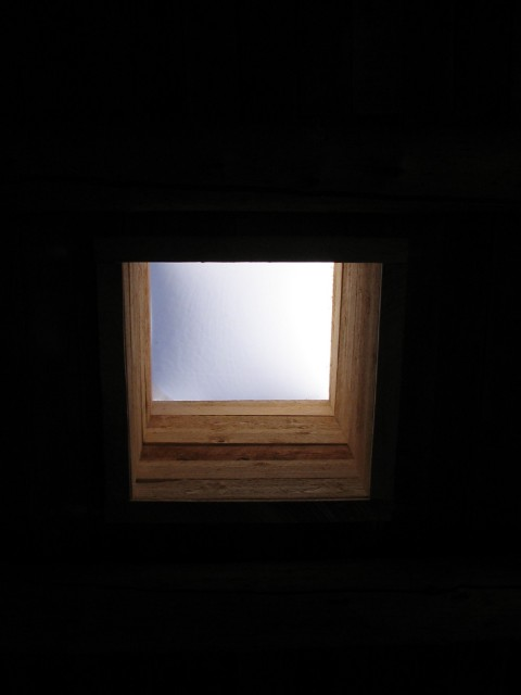 Through a Hole in the Sky, Mabel Dodge Luhan House, Taos, New Mexico, February 2007, photo by QuoinMonkey, © 2007, all rights reserved