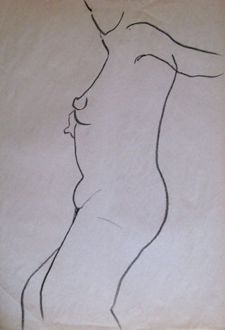 Gesture Drawing 1, drawing © 2007 by ybonesy, all rightsreserved