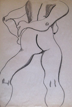 Gesture Drawing 2, drawing © 2007 by ybonesy, all rights reserved