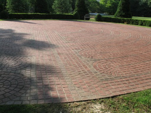 Brick by Brick, labyrinth in Martinez, Georgia, June 7th, 2007, photo © 2007 by QuoinMonkey. All rights reserved.