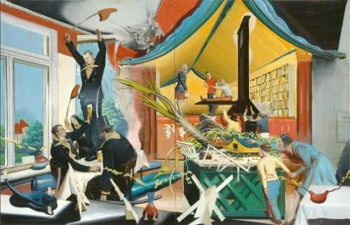 Neue Rollen, painting by Neo Rauch, from the David Zwirner gallery website, www.davidzwirner.com