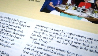 Classnotes detail, photo by Annelise, July 21, 2007