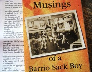 Musings of a Barrio Sack Boy, book by L. Luis Lopez
