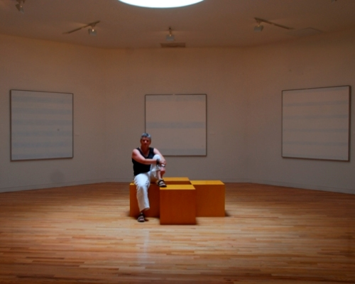 Agnes Martin Room, Harwood Museum, Taos, New Mexico, August 2007, photo © 2007 by Kevin Moul. All rights reserved.