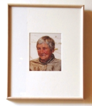 Agnes Martin, crop of Agnes Martin photo, Harwood Museum, Taos, New Mexico, July 2007, photo © 2007 by QuoinMonkey. All rights reserved.