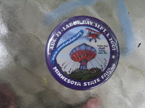 Minnesota State Fair Button 2007, photo by QuoinMonkey, all rights reserved.