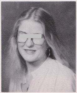 Class of 1979, a classmate who went with her own hairstyle