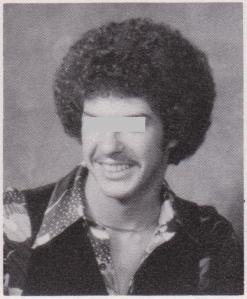 Class of 79, a classmate with the Michael Jackson afro and polyester shirt AND vest
