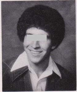 Class of 79, a classmate with the Michael Jackson afro and polyester shirt