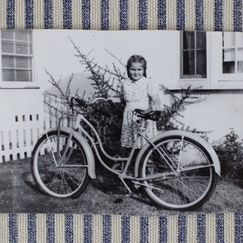 Marylin Schultz and her first bicycle outside of her North Hollywood home in 1946. She was an original valley girl!