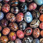 Egg Art Cover Image: Easter Eggs Decorated with Various Traditional Patterns. Photo by Carl Fleischhauer, 1982.